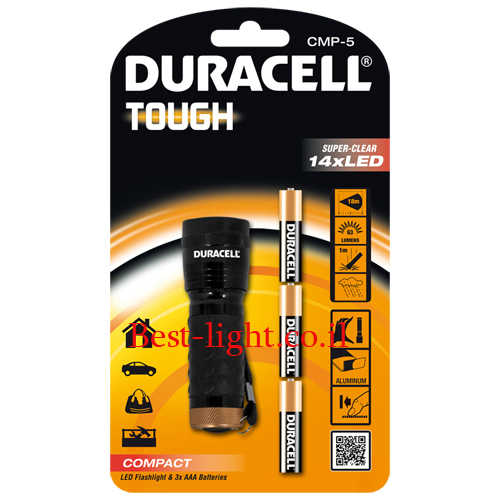 פנס יד לד Duracell Tough דגם CMP-5