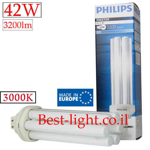 נורת פלורסנט Philips 42W 3000k PL-T 4P