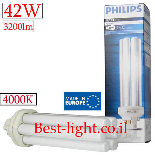 נורת פלורסנט Philips 42W 4000k PL-T 4P