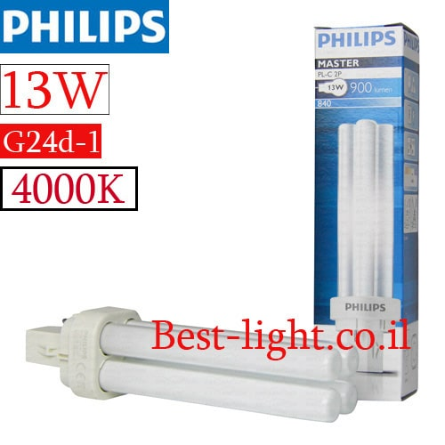 נורת פלורסנט Philips PL 13W G24d-1 4000k