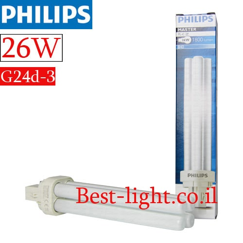 נורת פלורסנט  Philips PL 26W G24d-3 4000k